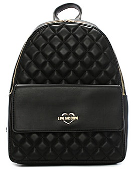 Love Moschino Quilted Pocket Backpack