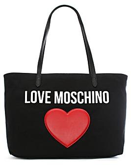 Love Moschino Canvas Logo Heart Shopper