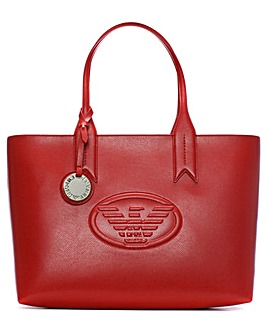 Emporio Armani Textured Logo Shopper Bag