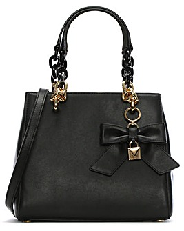 Michael Kors Leather Bow Satchel Bag