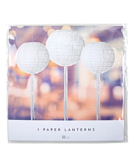 White Paper Laterns Set of 3