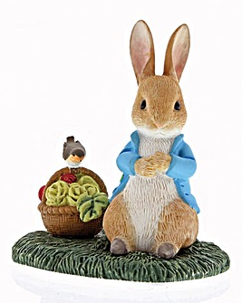 Peter Rabbit with Basket Figurine