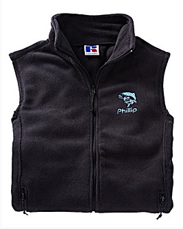Personalised Zip-Up Fleece Gilet