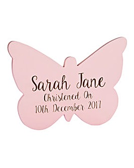 Personalised Butterfly Wall Plaque