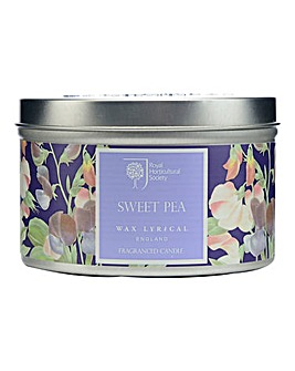 Wax Lyrical RHS Sweet Pea Tin Candle