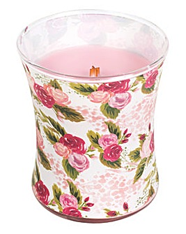 Woodwick Rose Decor Medium Jar