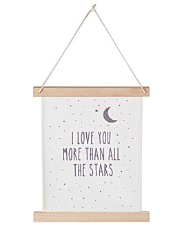 Hanging Sentiment Sign