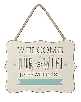 Wifi Password Plaque