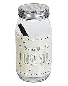 Love You Message Jar with Pen