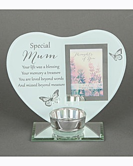 Reflections Heart Tealight Holder
