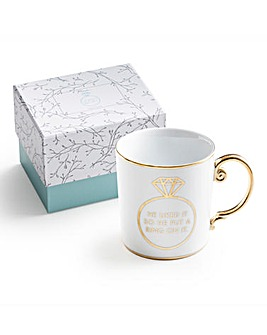 Put A Ring On It Gift Box Mug
