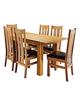 Malvern Oak Table and 6 Chester Chairs