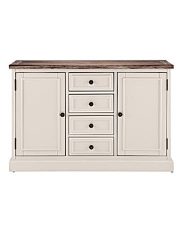 Ashdawn 3 Door 4 drawer Sideboard
