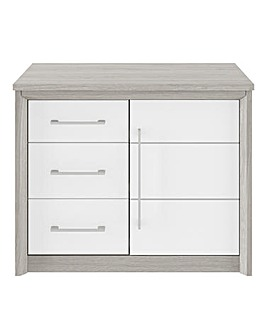 Figaro 1 Door 3 Drawer Sideboard