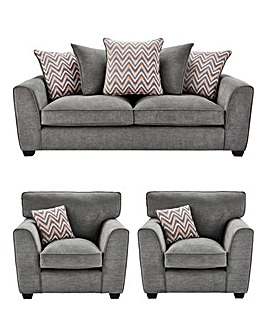 Zara 3 Seater Sofa plus 2 Chairs