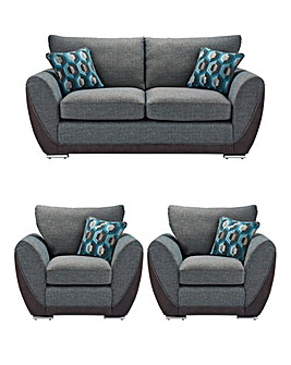 Harper 3 Seater Sofa plus 2 Chairs