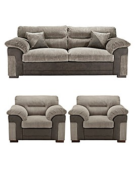 Dexter 3 Seater Sofa plus 2 Chairs