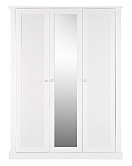 Tiverton 3 Door Wardrobe with Mirror