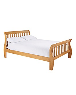 Aubrey Double Bed with Quilted Mattress