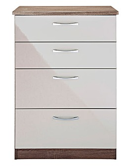 Sloane High Gloss 4 Drawer Deep Chest