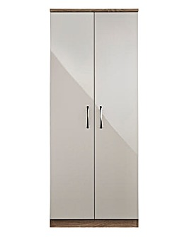 Sloane High Gloss 2 Door Wardrobe