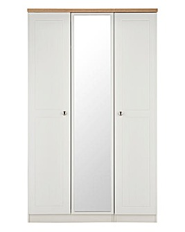 Clovelley 3 Door Mirrored Wardrobe