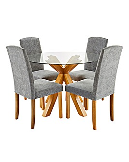 Albany Circular Table 4 Ava Chairs