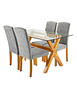 Albany Rectangular Table 4 Ava Chairs