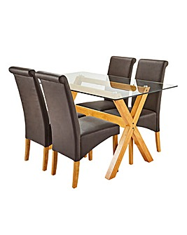 Albany Rectangular Table 4 Siena Chairs