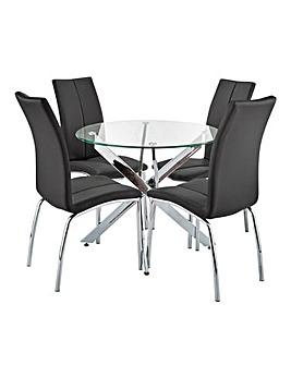 Meridien Circular Table 4 Zander Chairs