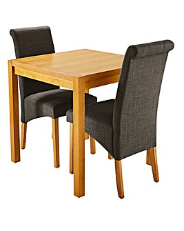 Oakham Table with 2 Siena Fabric Chairs