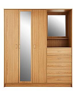 Darwen 3 Door 5 Drawer Combi Wardrobe