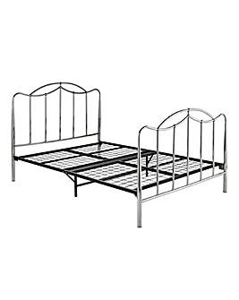 Deco Kingsize Metal Bedstead
