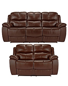 Carlton Leather Recliner 3 & 2 Seater