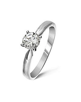 18ct White Gold 0.50Ct Diamond Ring