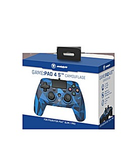 Snakebyte Blue Camouflage Controller PS4