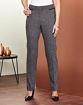 Textured Zip Trouser 27in