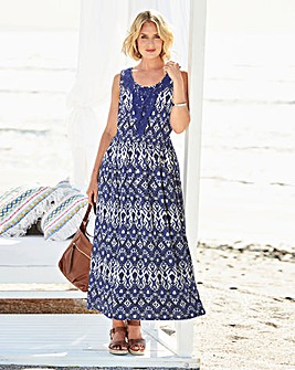 Print Crinkle Maxi Dress