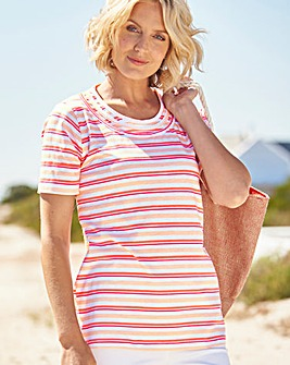 Short Sleeve Striped T Shirt
