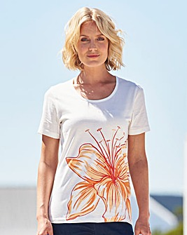 Floral Placement Print T Shirt
