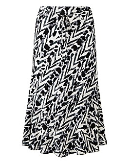 Pull on Printed Skirt 27""