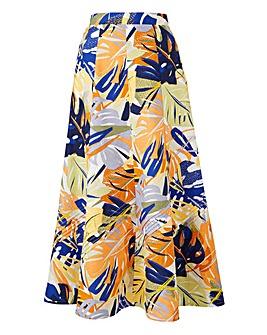 """Linen Pintuck Skirt 27"""""""