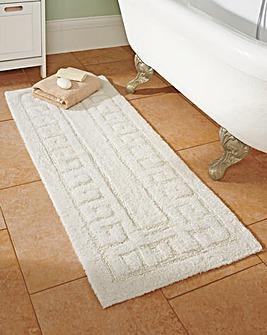 Greek Key Extra Long Bathmat