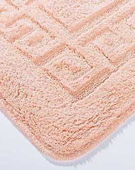 Greek Key Bathmat Set 2 Piece