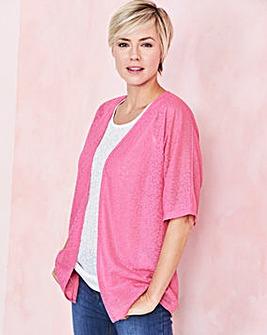 Sugar Pink Floral Jacquard Kimono