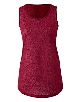 Berry Floral Jacquard Vest