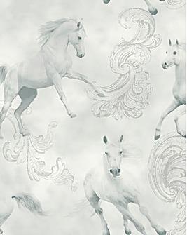 Unicorn Wallpaper - Camarillo Grey