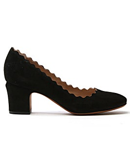 Daniel Scalloping Suede Court Shoe