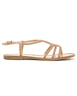 DF By Daniel Kloss Diamante Sandals