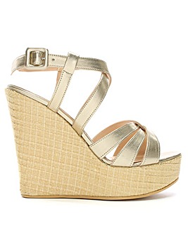 Daniel Atosita Leather Wedge Sandals